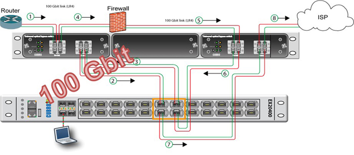 100Gbit Interface bypass